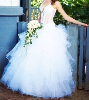 Шикарные свадебные платья пышные.