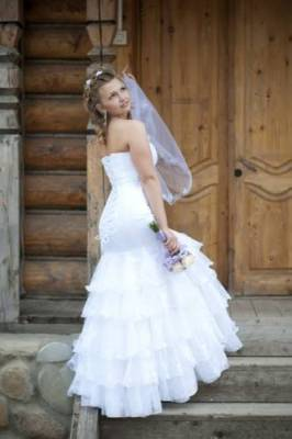 """Красивое свадебное платье, силуэт  """"рыбка """", в отличном состоянии, после..."""