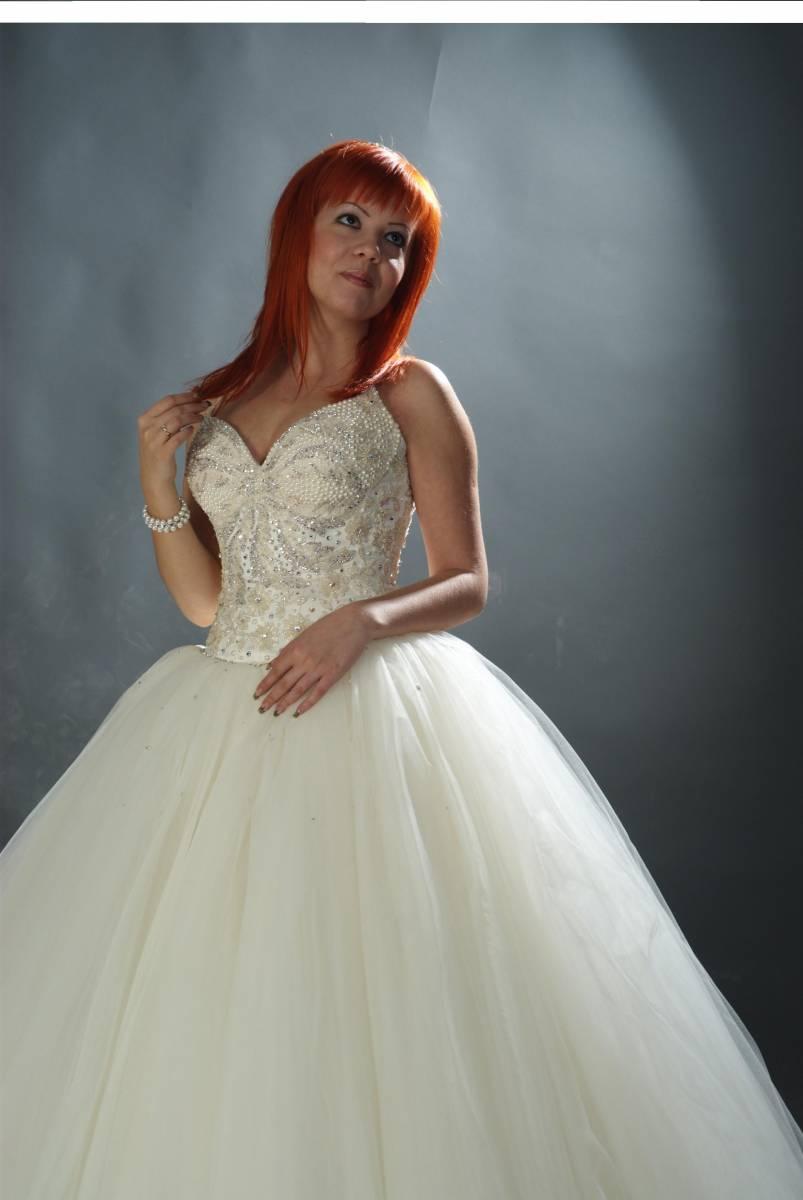 Свадебное платья цвет жемчуг