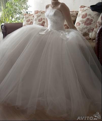 d37c8e22aaaf303 Свадебное платье кремового цвета с пышной юбкой. (Москва) от Надежда ...