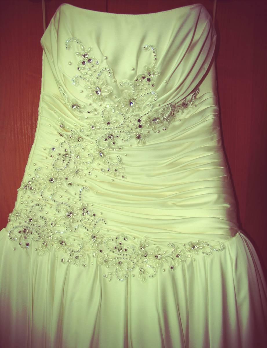 Подшить свадебное платье 7