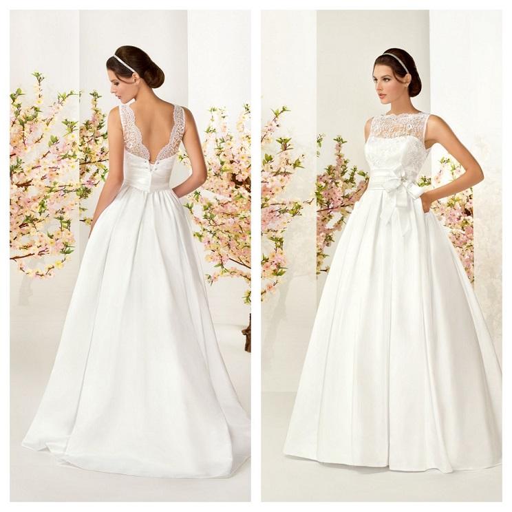 Свадебное платье молочного цвета