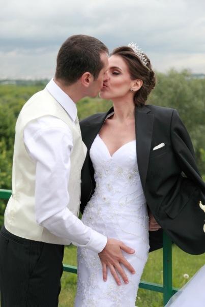 Силуэтные свадебные платья.