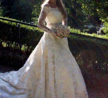 Итальянское свадебное платье модель Грейс Келли. (Москва) от