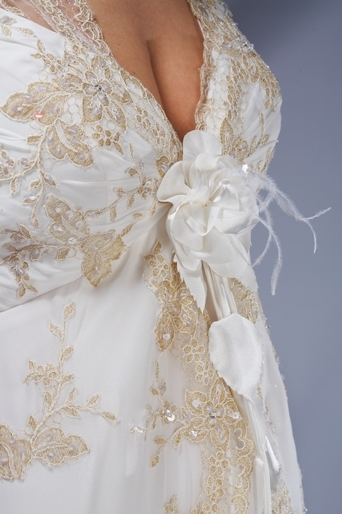 Вышивка платье свадебное платье 3