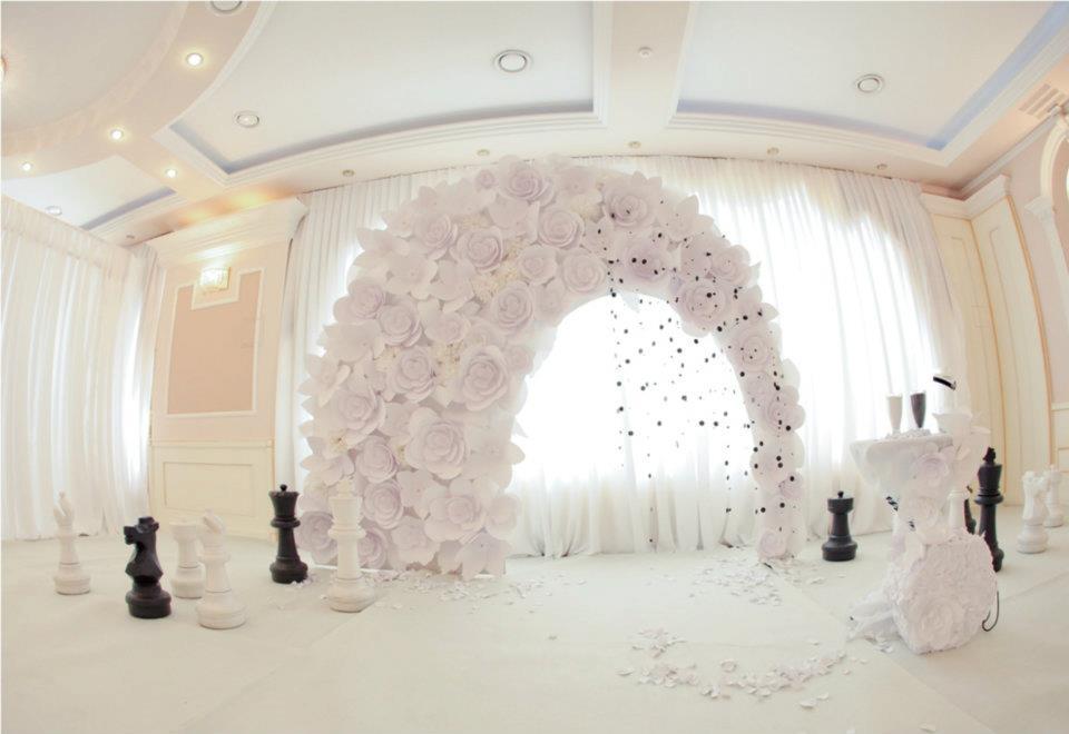 Свадебная арка из бумаги