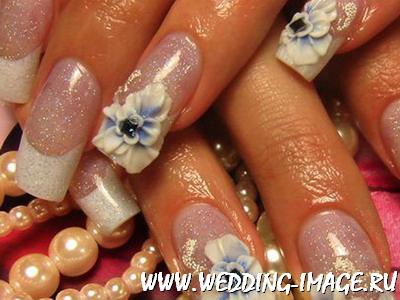 Ногти дизайн на свадьбу свидетельнице